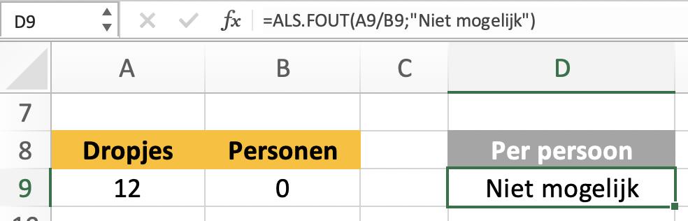 ALS.FOUT functie - schoonheidsfoutjes corrigeren in Excel