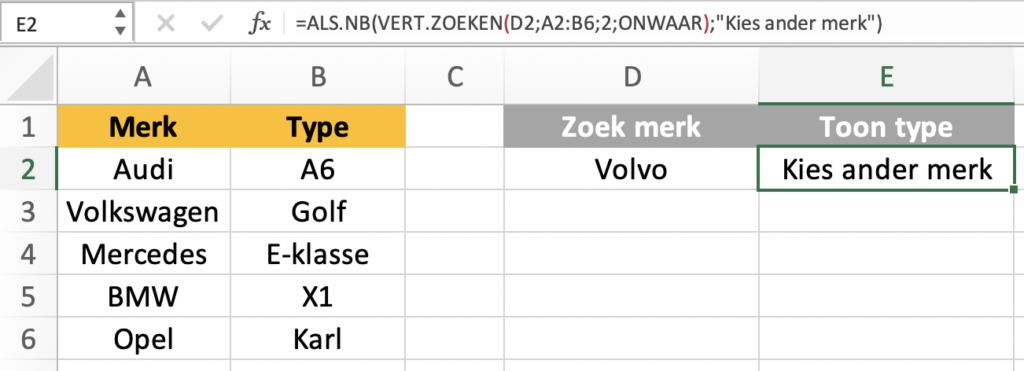 ALS.NB functie- schoonheidsfoutjes corrigeren in Excel